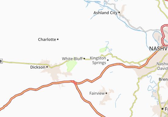 Kaart Plattegrond White Bluff