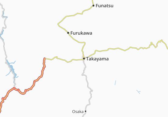 Kaart Plattegrond Takayama
