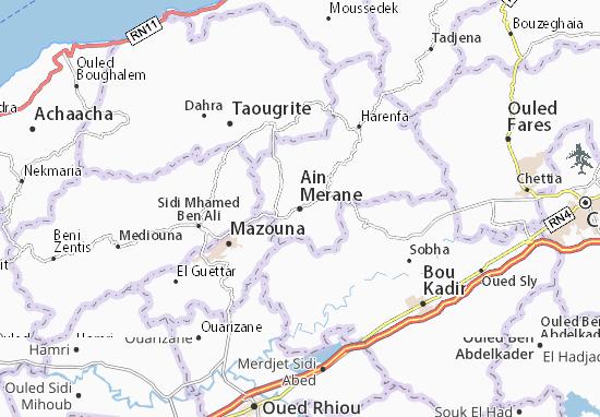 Carte-Plan Ain Merane