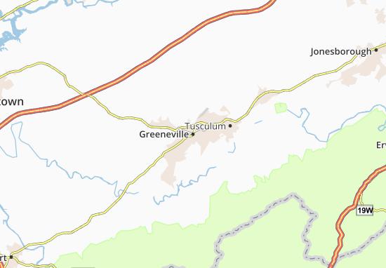 Carte-Plan Greeneville