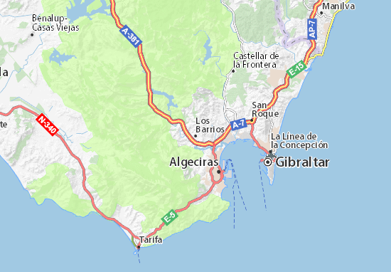 Karte Gibraltar Umgebung.Karte Stadtplan Los Barrios Viamichelin