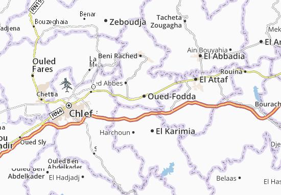 Carte-Plan Oued-Fodda