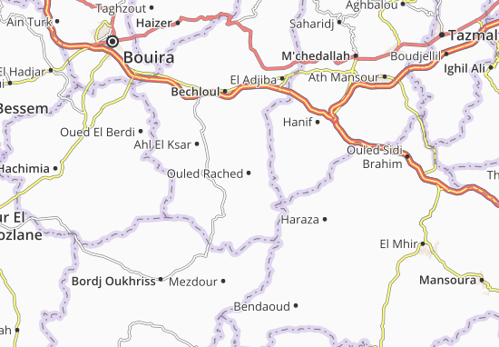 Carte-Plan Ouled Rached