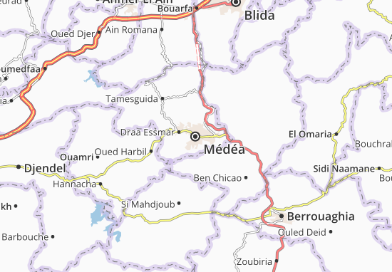 Karte Stadtplan Médéa