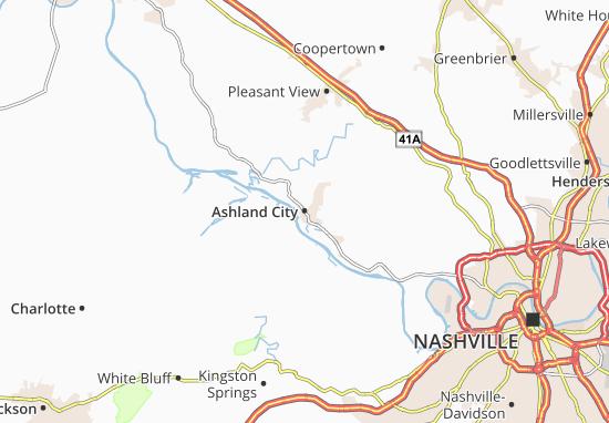 Kaart Plattegrond Ashland City