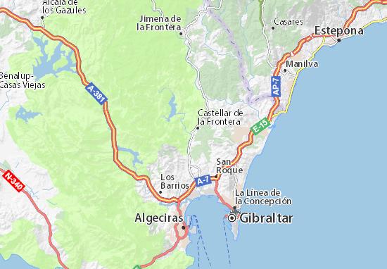 Almoraima Map: Detailed maps for the city of Almoraima - ViaMichelin