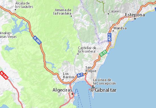 Castellar de la Frontera Map