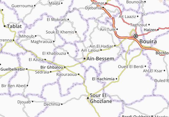 Carte-Plan Aïn-Bessem