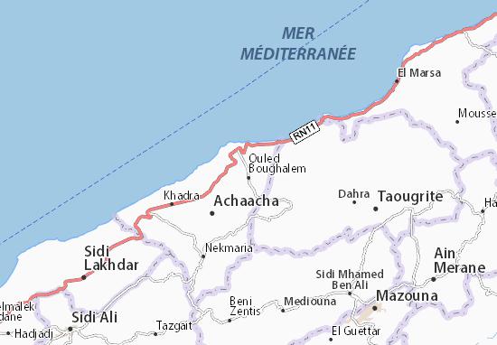Carte-Plan Ouled Boughalem