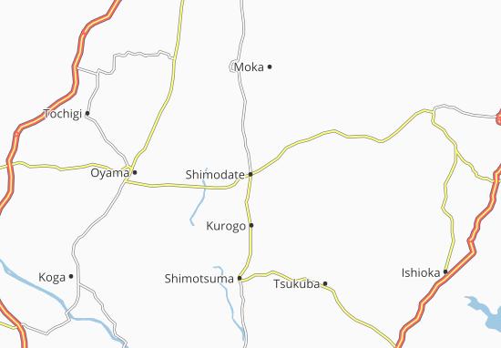 Shimodate Map