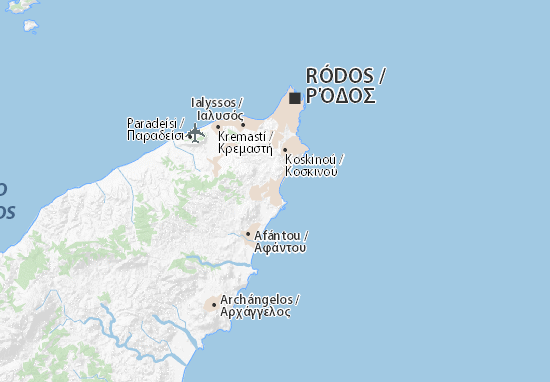 Rhodos Karte Faliraki.Karte Stadtplan Faliráki Viamichelin