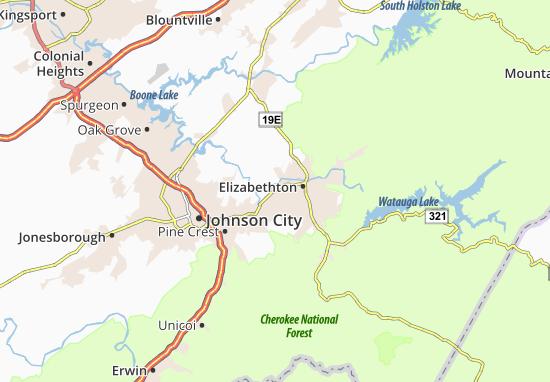 Mapas-Planos Elizabethton