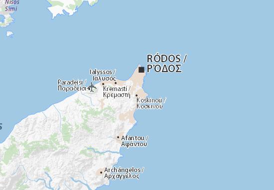 Karte stadtplan koskino viamichelin for Koskinou griechenland