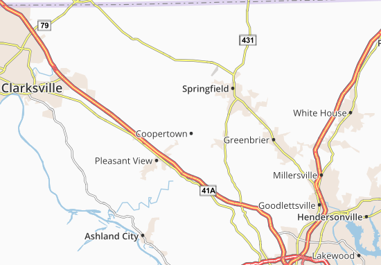 Kaart Plattegrond Coopertown