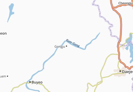 Carte-Plan Gongju