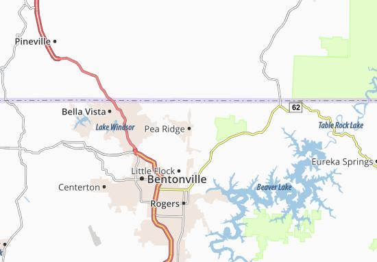 Kaart Plattegrond Pea Ridge