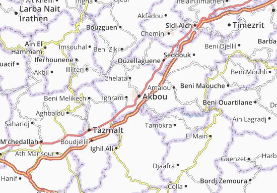 Carte-Plan Akbou