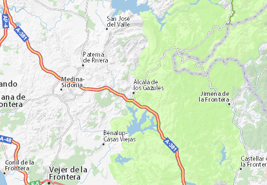 Carte-Plan Alcalá de los Gazules