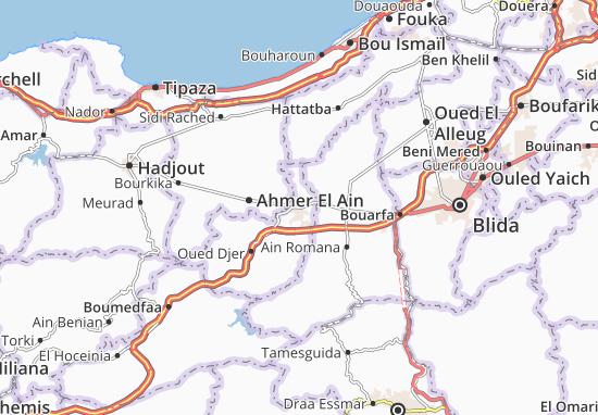 Karte Stadtplan El Affroun