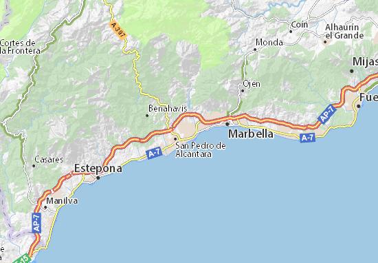 Mapa Nueva Andaluca  plano Nueva Andaluca  ViaMichelin