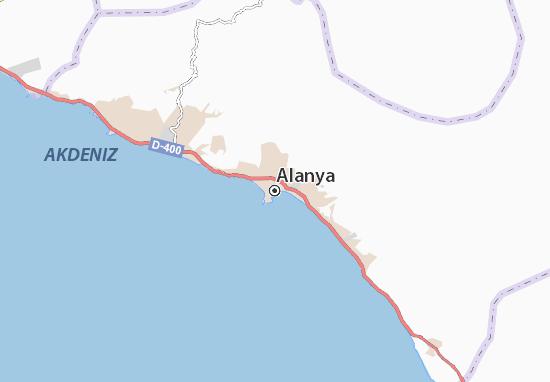 Kaart Plattegrond Alanya