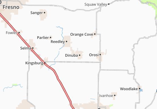 Dinuba Map