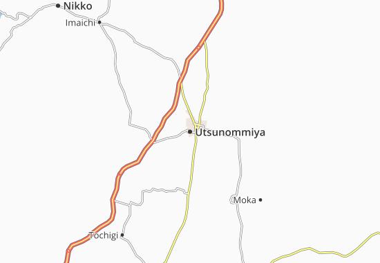 Mapa Plano Utsunommiya