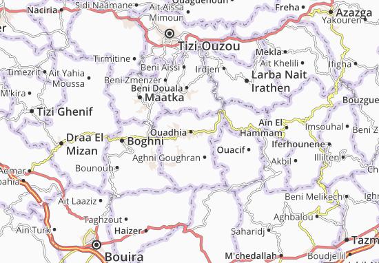 Carte-Plan Ouadhia