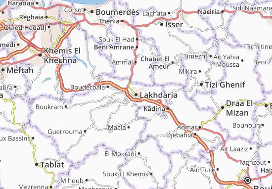 Carte-Plan Lakhdaria