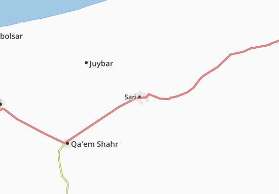 Kaart Plattegrond Sari