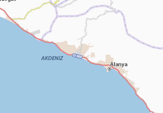 Karte Stadtplan Konaklı Viamichelin