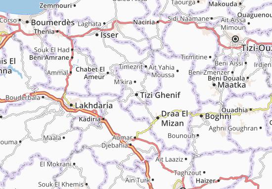 Carte-Plan Tizi Ghenif