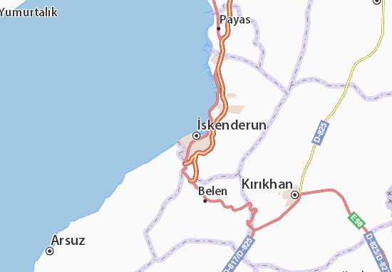 İskenderun Map