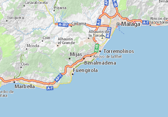 Benalmádena Map
