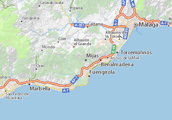 Carte-Plan Mijas