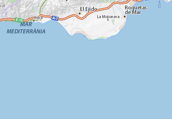 Mapa Michelin Costa De Almería Plano Costa De Almería Viamichelin