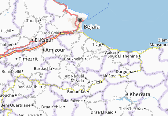 Map Of Boukhelifa Michelin Boukhelifa Map ViaMichelin - Béjaïa map