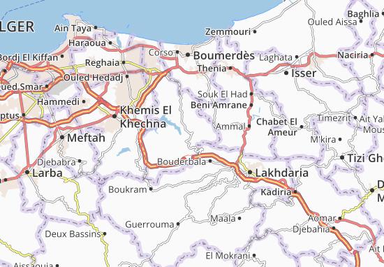 Carte-Plan Bouzegza Keddara