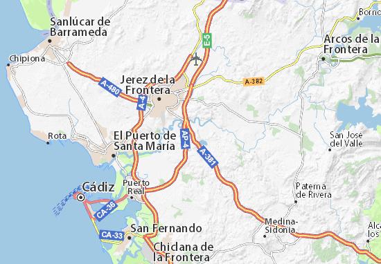 Jerez De La Frontera Karte.Karte Stadtplan Las Pachecas Viamichelin