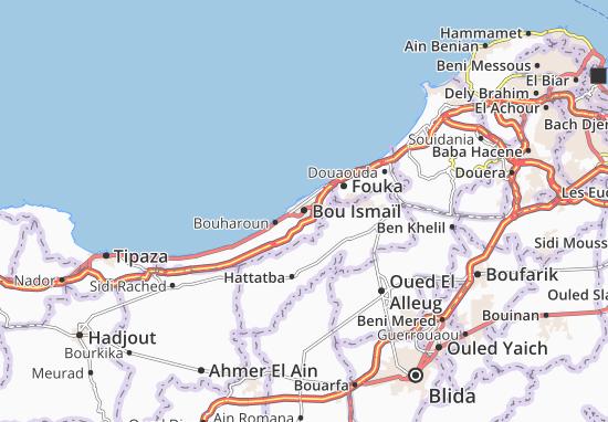 Carte-Plan Bou Ismaïl