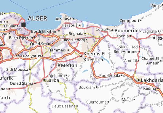Carte-Plan Khemis El Khechna