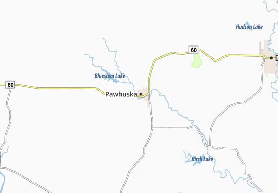 Carte-Plan Pawhuska