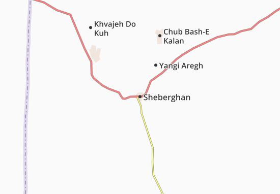 Sheberghan Map