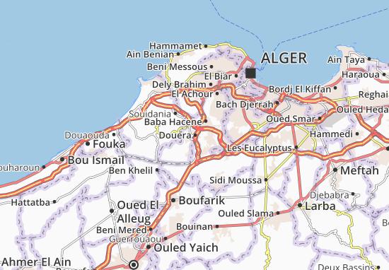 Karte Stadtplan Douera