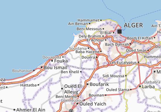 Carte Zeralda Algerie.Carte Detaillee Mahelma Plan Mahelma Viamichelin