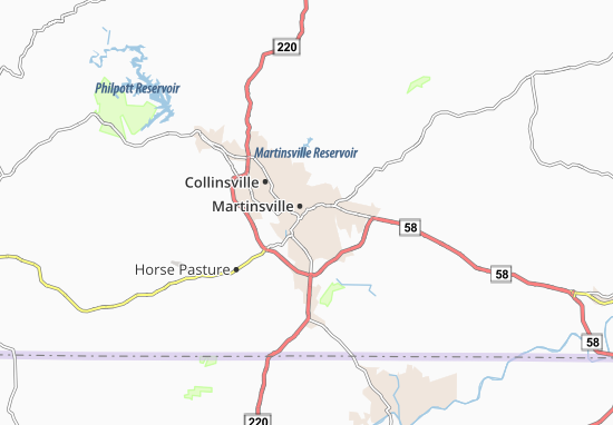 Mappe-Piantine Martinsville