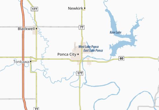 Carte-Plan Ponca City