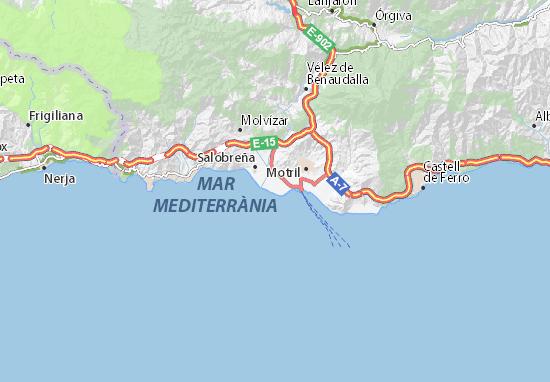 Granada Karte.Karte Stadtplan Playa Granada Viamichelin