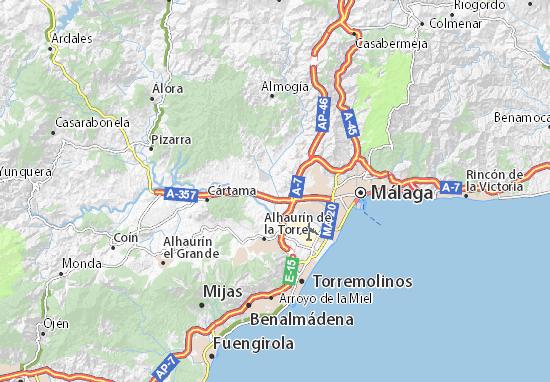 Málaga Map: Detailed maps for the city of Málaga - ViaMichelin on center of budapest map, center of bangkok map, center of milan map,