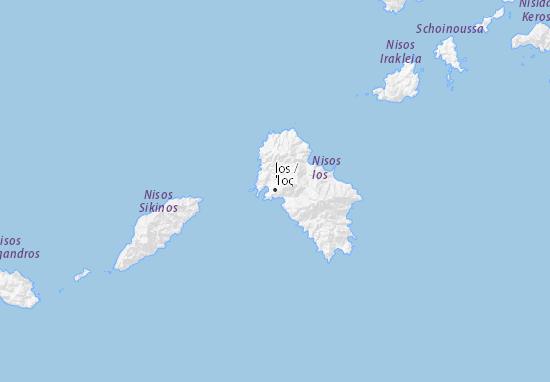 Ios Cartina Geografica.Mappa Michelin Ios Pinatina Di Ios Viamichelin